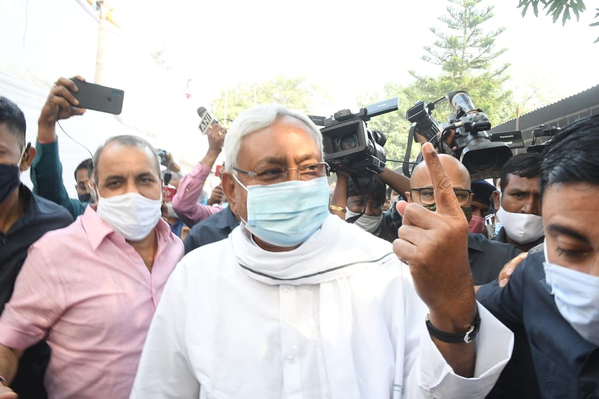 CM Nitish Second Phase Voting