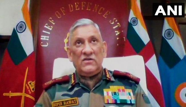 चीन के साथ वास्तविक नियंत्रण रेखा में कोई बदलाव स्वीकार नहीं करेगा भारत : प्रमुख रक्षा अध्यक्ष बिपिन रावत