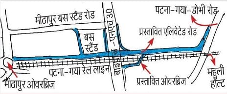2023 तक हो जायेगा मीठापुर-महुली के बीच फोर लेन एलिवेटेड रोड तैयार, शिफ्ट होंगे 700 पेड़