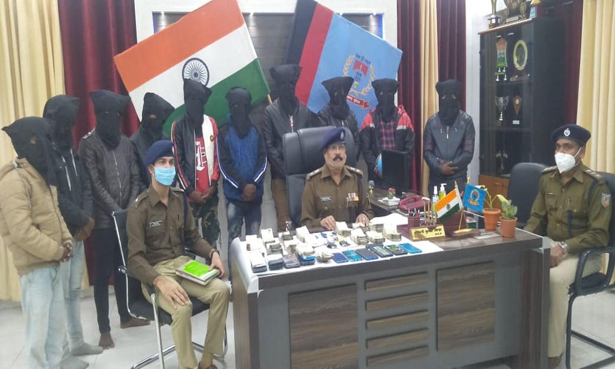 जामताड़ा के बाद अब देवघर बन रहा साइबर क्राइम जोन, पुलिस ने 14 लाख रुपये के साथ 10 आरोपियों को किया गिरफ्तार