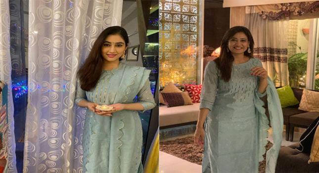 दीपावली पर एक ही तरह के ड्रेस में नजर आईं श्वेता तिवारी और दिशा परमार, जानें क्यों एक्ट्रेस ने पहनी एक तरह की आउटफिट