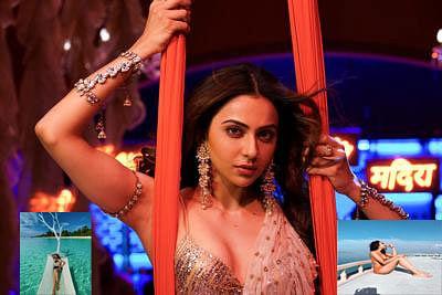 ऑरेंज स्विमसूट में रकुल प्रीत सिंह ने करवाया Bold Photoshoot, समंदर के बीचों-बीच चिल करती दिखीं एक्ट्रेस