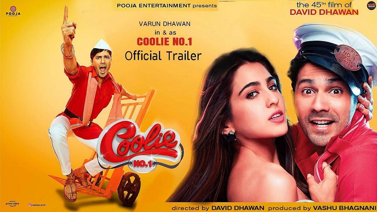 Varun Dhawan और Sara Ali Khan की फिल्म Coolie No.1 का पोस्टर रिलीज, वरुण के दिखे 5 अवतार, रिलीज डेट भी आयी सामने