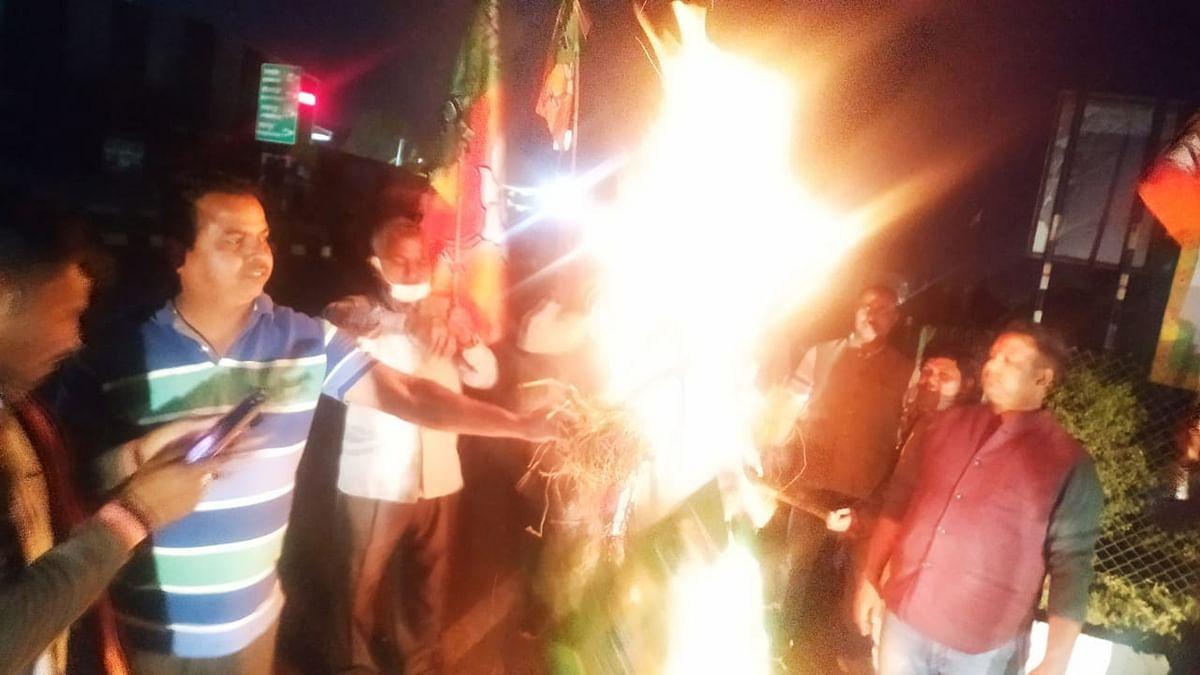भाजपा अध्यक्ष पर देशद्रोह का मुकदमा दर्ज करने के विरोध में मुख्यमंत्री हेमंत सोरेन का पुतला फूंका, दीपक प्रकाश ने झामुमो सरकार पर किया हमला