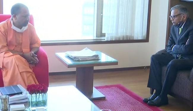 टाटा समूह के अध्यक्ष नटराजन चंद्रशेखरन से मिले योगी आदित्यनाथ, कई मुद्दों पर की चर्चा