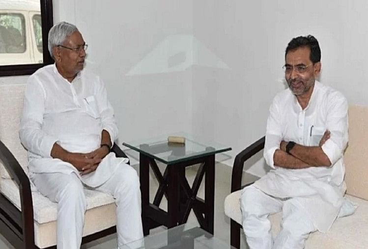 नीतीश कुमार से मिले उपेंद्र कुशवाहा, बिहार में नये सियासी समीकरण की अटकलें तेज