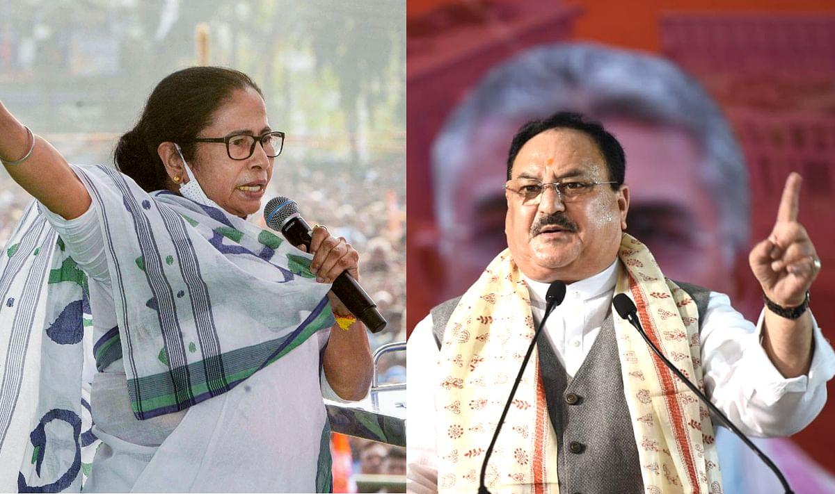 ममता और अभिषेक बनर्जी ने BJP पर लगाया पैसे बांटने का आरोप तो बोले जेपी नड्डा, 'दीदी को सता रहा हार का डर'