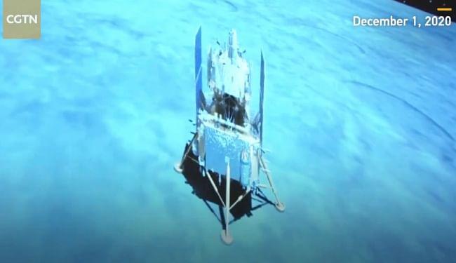 चंद्रमा की सतह पर सफलतापूर्वक उतरा चीन का अंतरिक्ष यान चांग-ए5, मिट्टी और चट्टानों के नमूने एकत्र कर धरती पर लायेगा
