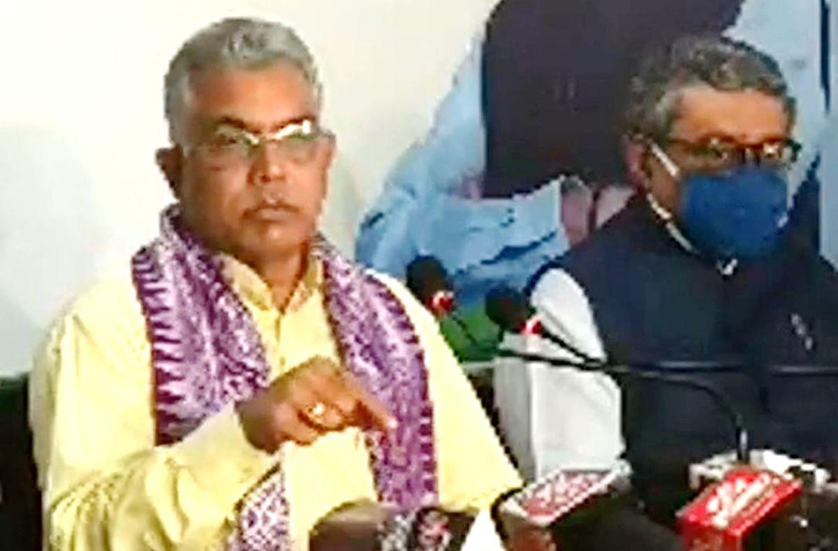 पश्चिम बंगाल के विकास में बंगालियों से बड़ी भूमिका बाहरियों ने निभायी, कोलकाता में बोले दिलीप घोष
