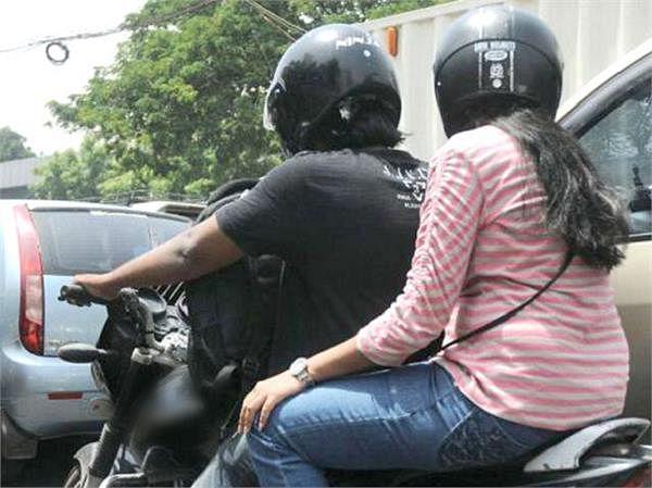 बाइक के पीछे बिना हेलमेट के बैठे तो लगेगा एक हजार जुर्माना, जानिये बिहार में किस नियम को तोड़ने पर कितना देना होगा दंड