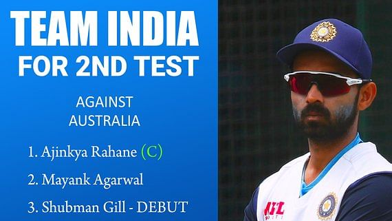 Australia vs India 2nd test : भारत ने की प्लेइंग इलेवन की घोषणा, जानें किसे मिली टीम में जगह कौन हुआ बाहर...
