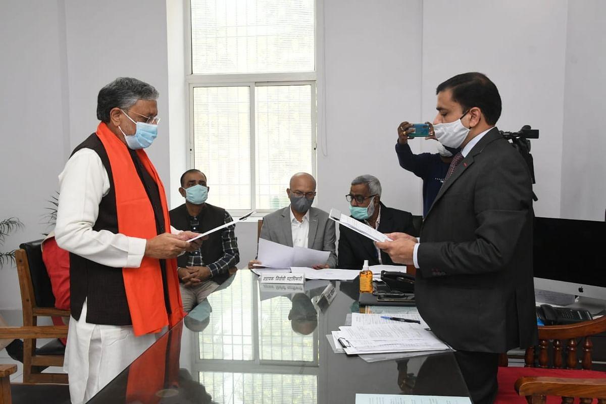 Rajya Sabha Election: राज्यसभा उपचुनाव के लिए सुशील कुमार मोदी ने किया नामांकन, CM नीतीश कुमार रहे मौजूद