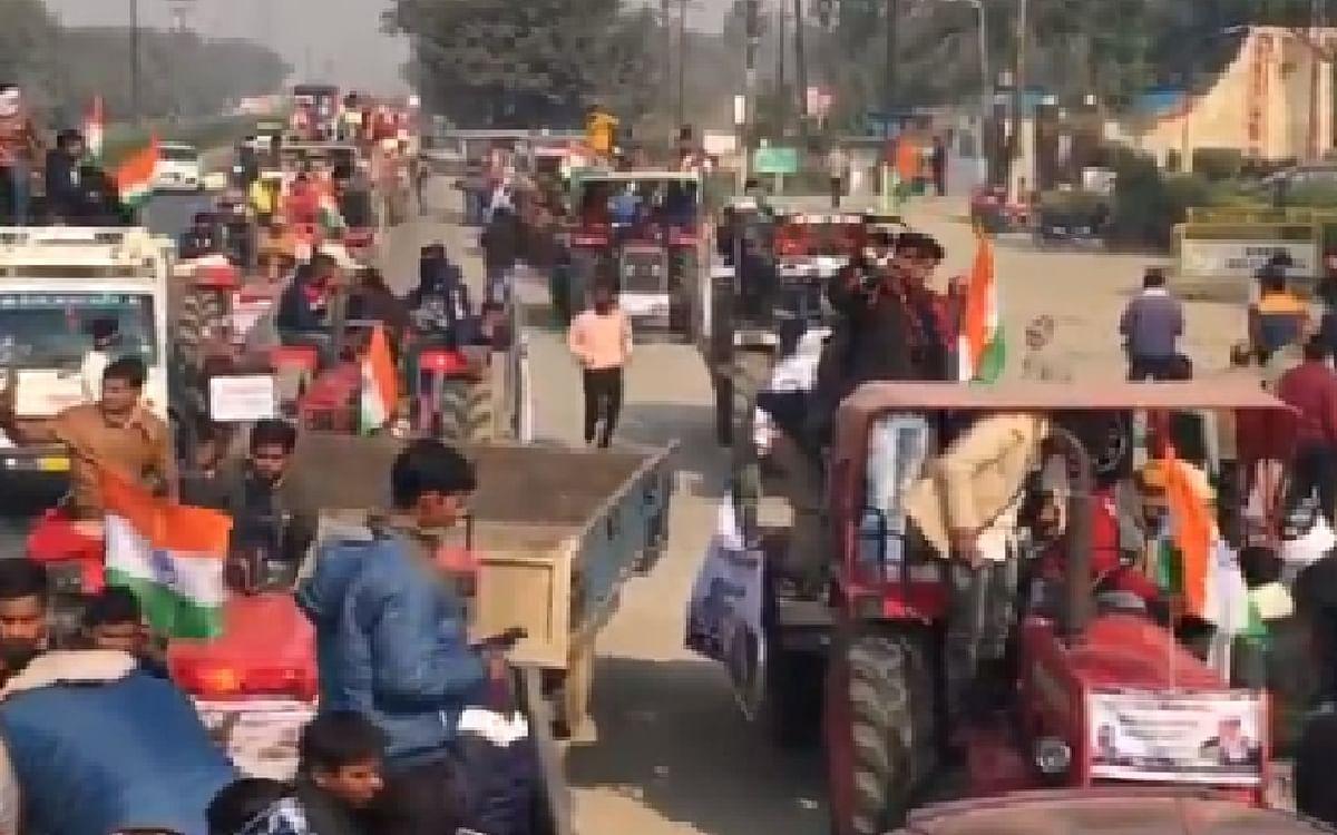 Farmers Protest : विरोध के बीच अब कृषि कानूनों के समर्थन में किसान संगठनों का ट्रैक्टर मार्च