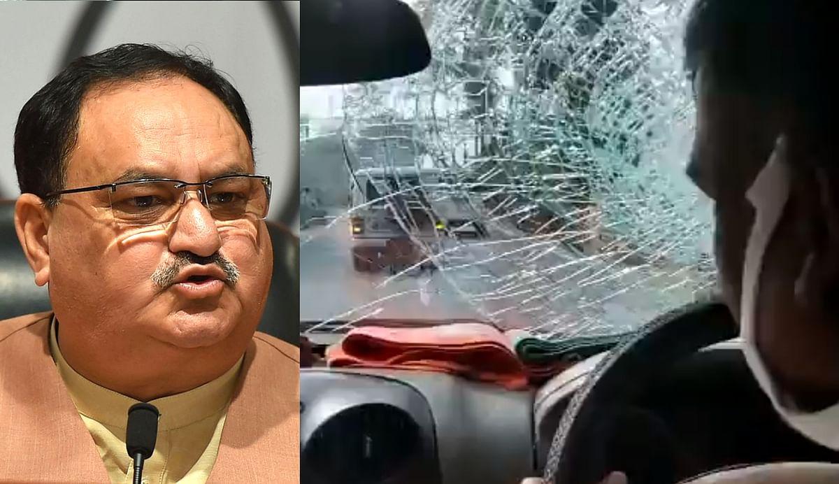 VIDEO: पश्चिम बंगाल में भाजपा अध्यक्ष जेपी नड्डा के काफिले पर हमला, गृह मंत्रालय ने राज्य सरकार से मांगी रिपोर्ट