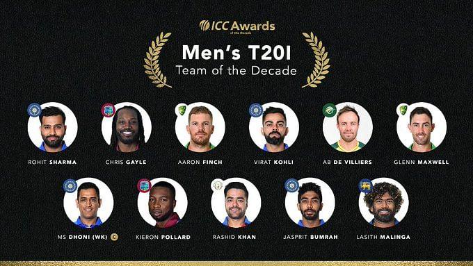 ICC Awards : Team of the Decade में धौनी टी20 और ODI के कप्तान, कोहली को टेस्ट की कमान