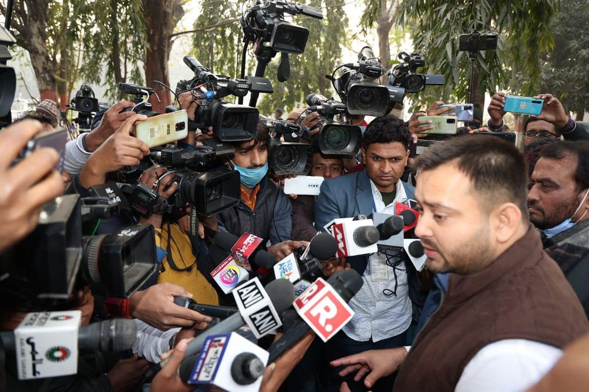 Bihar News: राज्यपाल से मुलाकात के बाद Tejashwi Yadav बोले- बिहार में सरकार का इकबाल खत्म हो चुका है