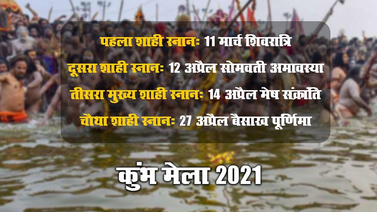 Kumbh Mela 2021 Date: 11 मार्च को शिवरात्रि के मौके पर पहला शाही स्नान, ग्रहों की चाल के कारण इस बार का कुंभ मेला 11वें वर्ष में ही