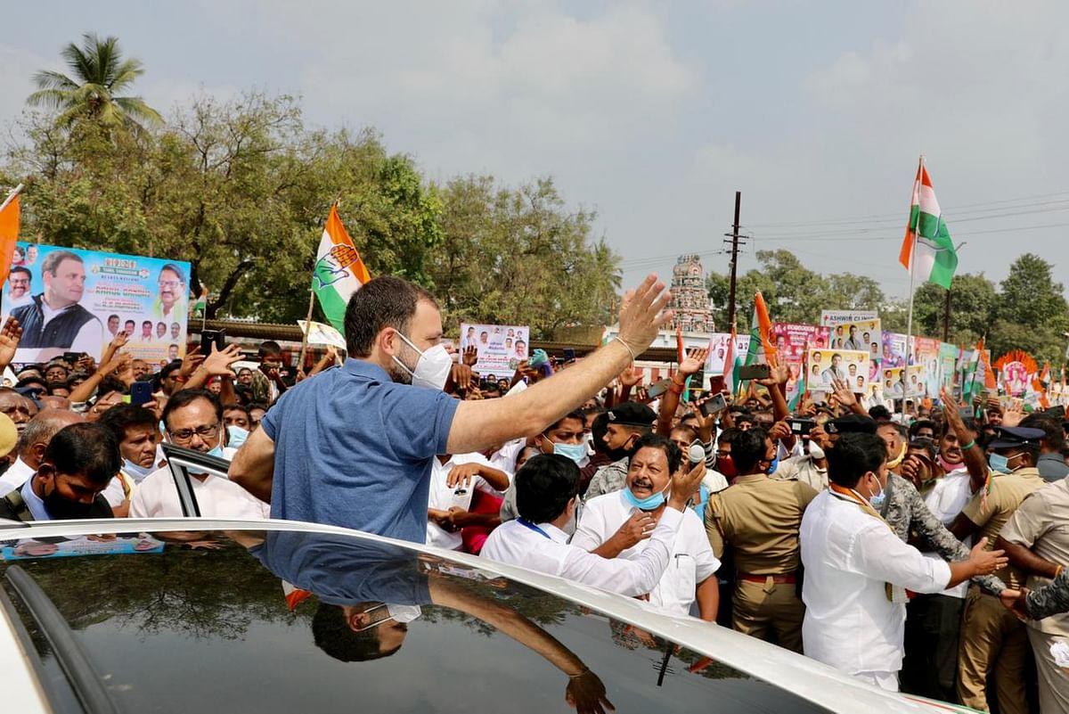 मैं समस्याएं सुनने और उन्हें दूर करने में मदद करने आया हूं, तमिलनाडु के इरोड में बोले राहुल गांधी