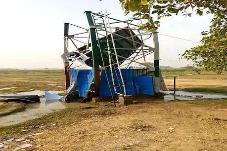बिहार में उद्घाटन के डेढ माह बाद ही ध्वस्त हुआ जलमीनार, कोई हताहत नहीं