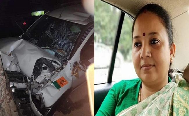 भाजपा नेत्री की गाड़ी में ट्रक ने मारी टक्कर, विधायक का हाथ-पैर टूटा, पटना रेफर