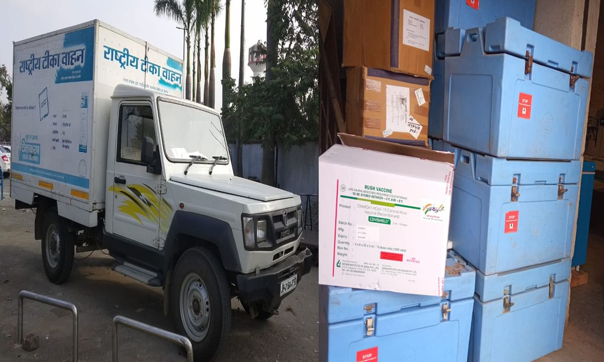 Coronavirus in Bihar : कोरोना वैक्सीन का पांच लाख डोज पहुंचा बिहार, पटना में 16563 लोगों ने लिया टीका