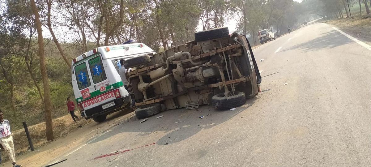 बिहार के औरंगाबाद के सांसद सुशील कुमार सिंह का स्कॉर्ट वाहन झारखंड के पलामू में दुर्घटनाग्रस्त, एक जवान की मौत