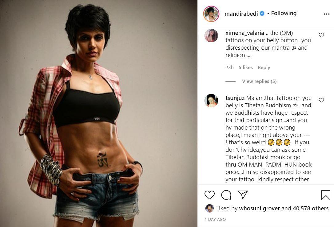 Mandira Bedi instagram screenshot