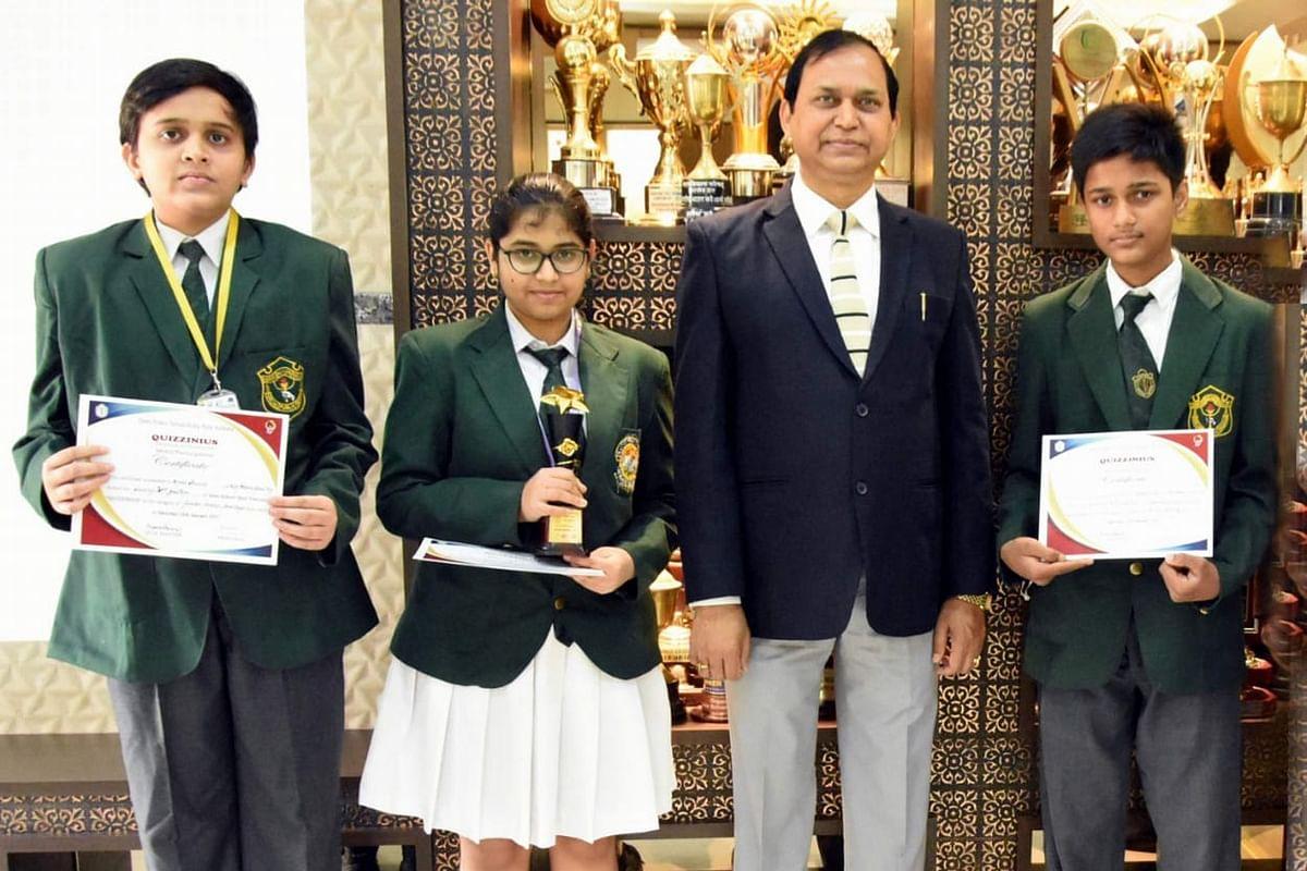 Jharkhand News : राष्ट्रीय क्विज प्रतियोगिता Quizinius-2021 में डीपीएस बोकारो के विद्यार्थियों ने दिखायी प्रतिभा, मिली ये ट्रॉफी