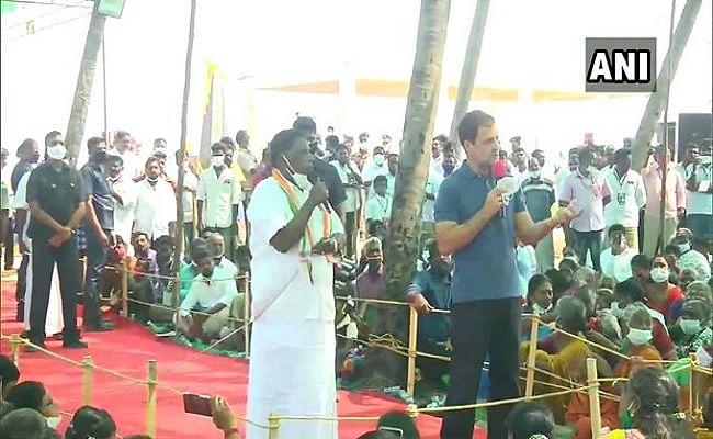पुदुचेरी में मछुआरों से बातचीत में बोले राहुल गांधी, मैं आपको समुद्र का किसान मानता हूं
