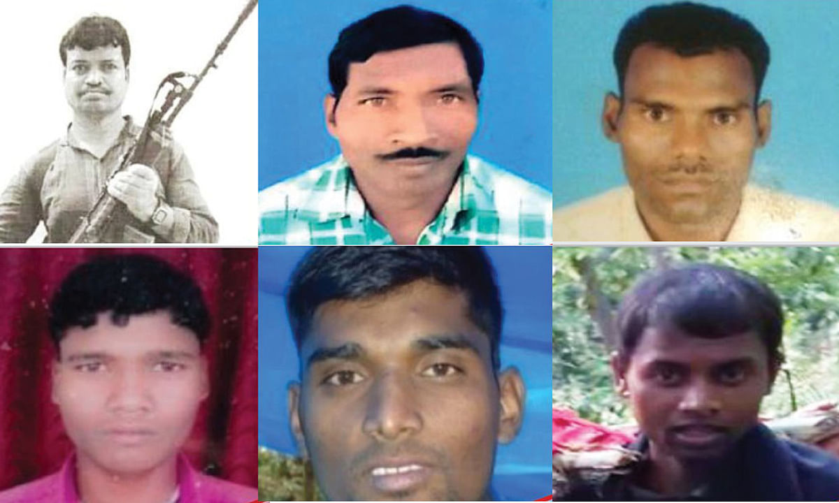 Jharkhand news : हार्डकोर इनामी नक्सली निरज सिंह, अगनू गंझू, प्रदीप सिंह खरवार, बालक गंझू, मनीष यादव और शीतल मोची.