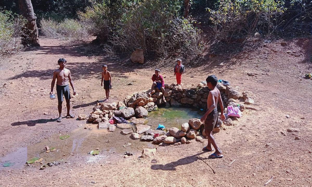 Jharkhand News : लातेहार का नवाटोली गांव जहां एक ही जगह इंसान और जानवर दोनों बुझाते हैं अपनी प्यास