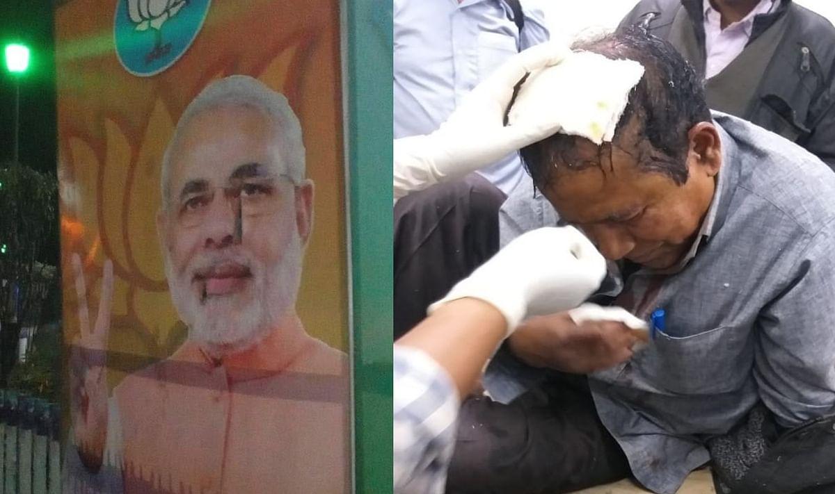 हल्दिया में रैली से पहले पीएम मोदी के पोस्टर फाड़े, भाजपा कार्यकर्ताओं पर हमले