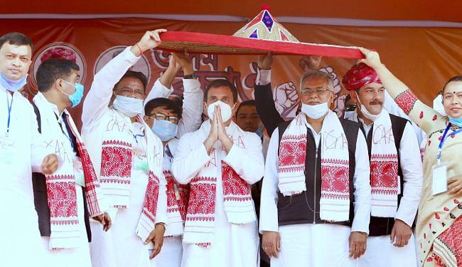 असम में कांग्रेस नेता राहुल गांधी बोले, हम दो-हमारे दो की सरकार सुन लो, CAA कभी नहीं होगा