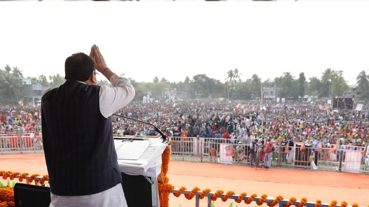West Bengal News in Hindi : बंगाल में भाजपा की परिवर्तन रैली का आगाज, जेपी नड्डा ने दिखायी हरी झंडी