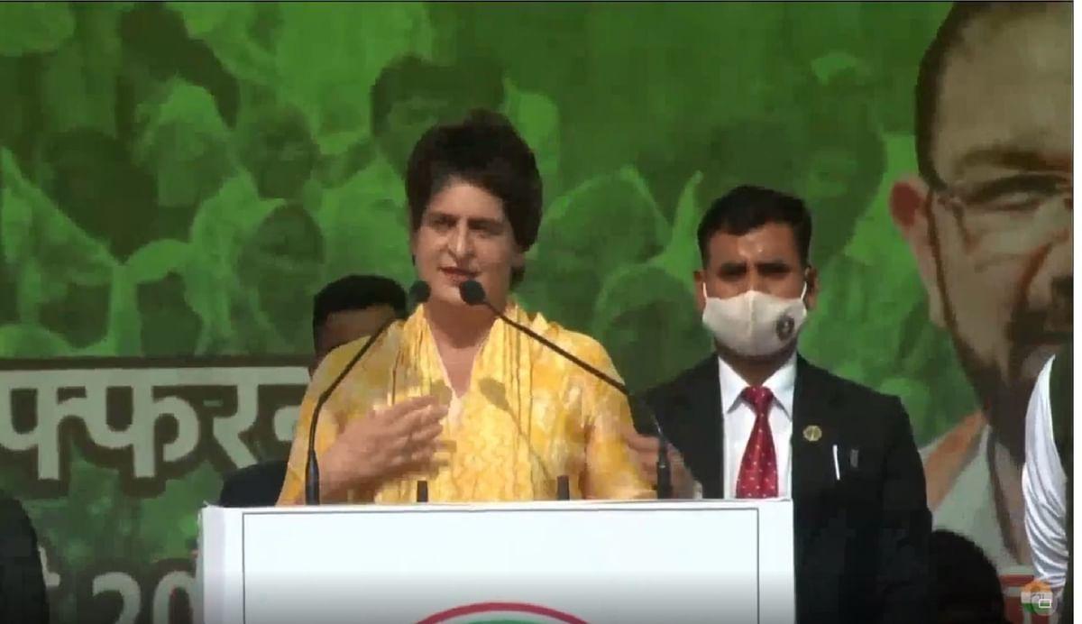 महापंचायत में बोली प्रियंका गांधी, इस देश का दिल किसान हैं उन्हें आतंकी कहा गया, 215 किसान शहीद हो गये