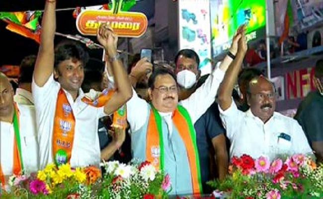 Tamil Nadu Assembly Election 2021 : तमिलनाडु में निश्चित रूप से बीजेपी अपनी जगह बना रही है, चेन्नई में बोले जेपी नड्डा