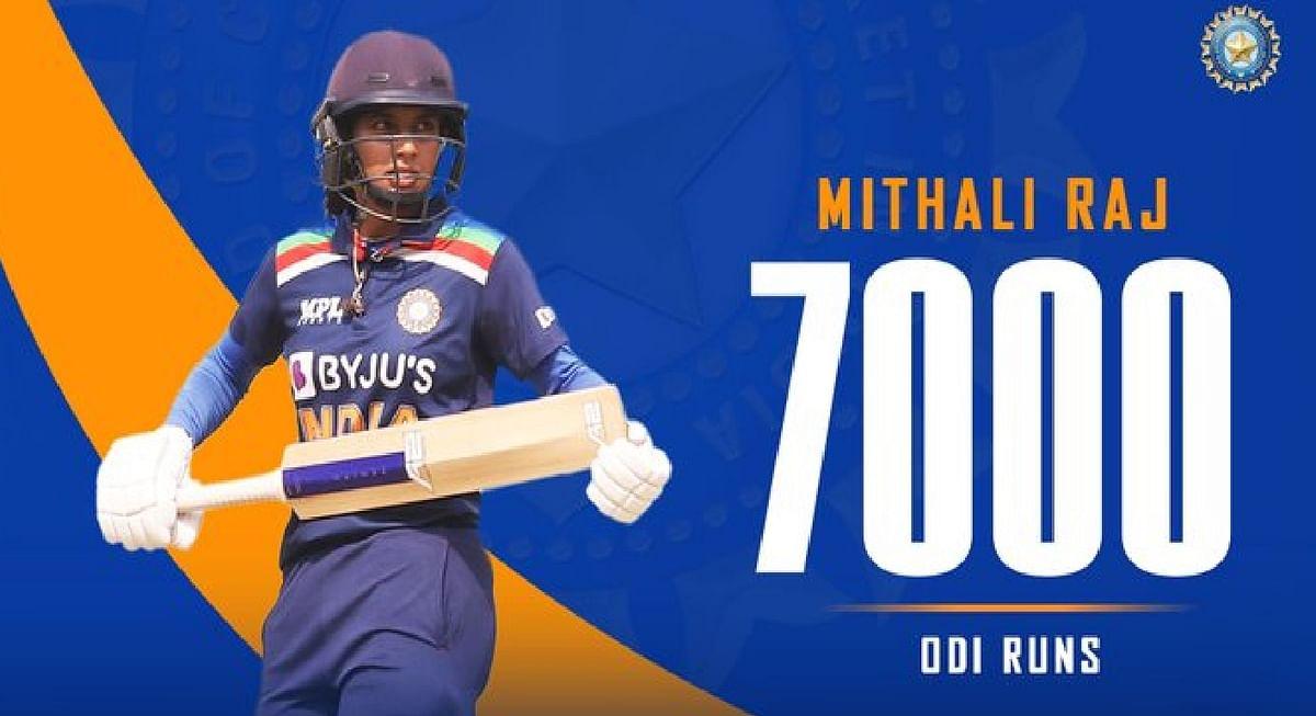 मिताली राज ने वनडे में रचा इतिहास, 7 हजार रन बनाने वाली दुनिया की पहली महिला क्रिकेटर बनी