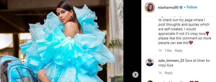 nia sharma instagram screenshot