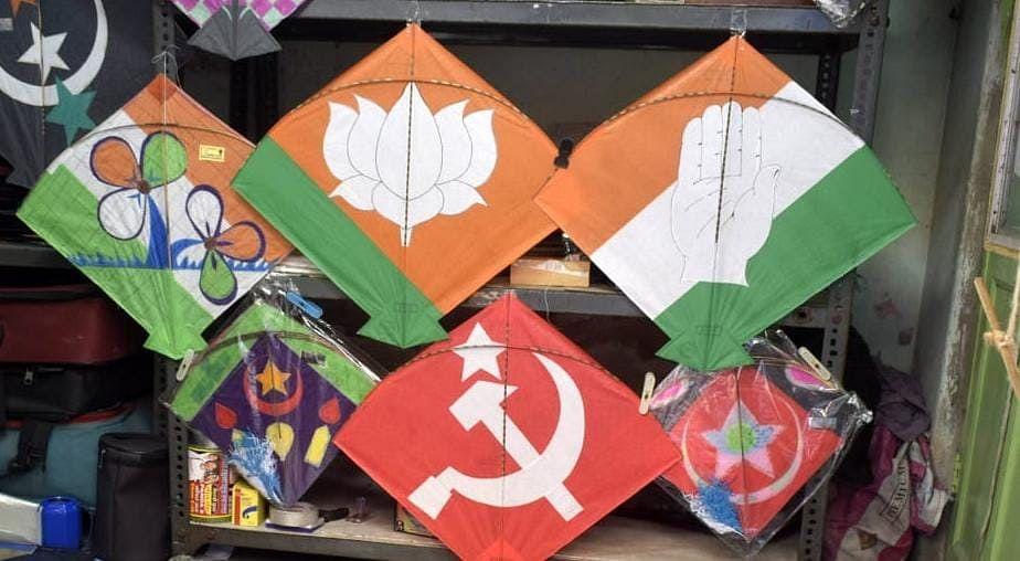 Bengal Chunav 2021 : इलेक्शन फाइट से पहले बंगाल में चढ़ा सियासी पारा, दुकानों में सजने लगे चुनावी रंग, Exclusive Photos