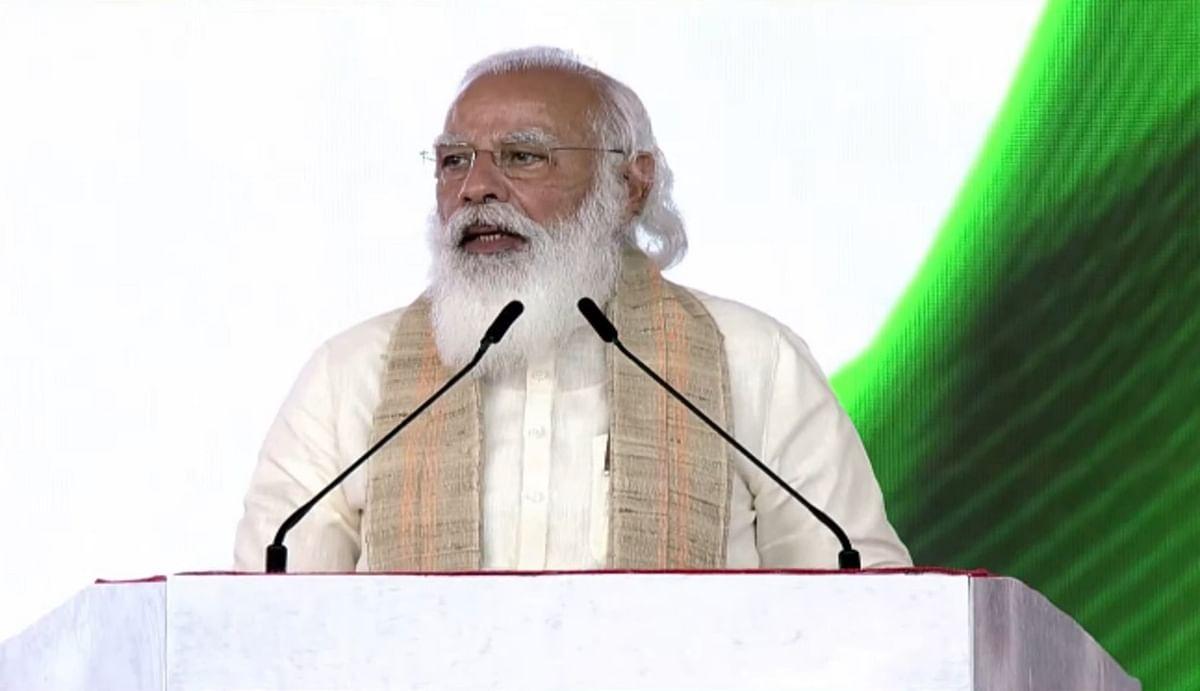 आजादी का अमृत महोत्सव : साबरमती से पीएम मोदी ने बताया नमक का महत्व, कहा - 'हमने देश का नमक खाया है'