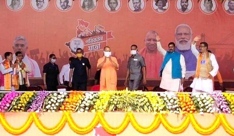 बंगाल चुनाव 2021: तुष्टिकरण के चलते लव जेहाद को नहीं रोक रही बंगाल सरकार, 2  मई के बाद रहम की भीख मांगेंगे TMC के गुंडे, गजोले में बोले योगी आदित्यनाथ