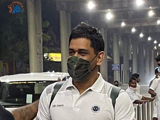 CSK : IPL अभ्यास के लिए चेन्नई पहुंचे MS Dhoni, ऐसे हुआ स्वागत