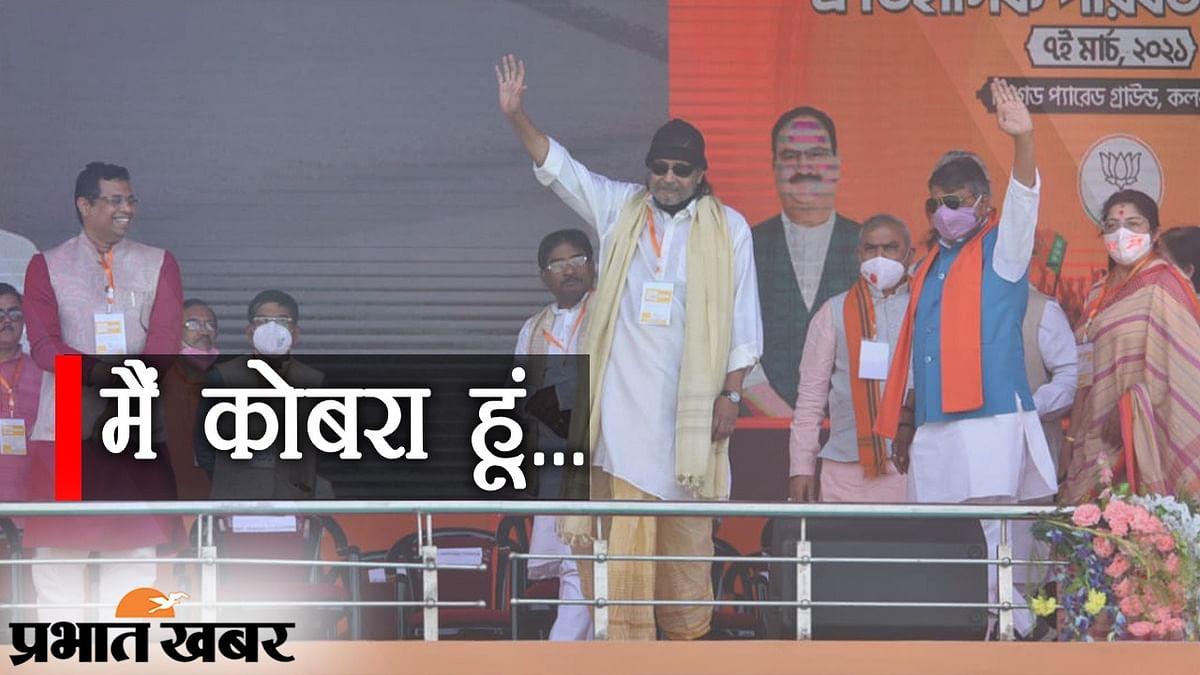 Brigade Rally: BJP में एक्टर मिथुन चक्रवर्ती, खुद को 'कोबरा' बताया, कहा- 'दादा जा बोले, ताई कोरे'