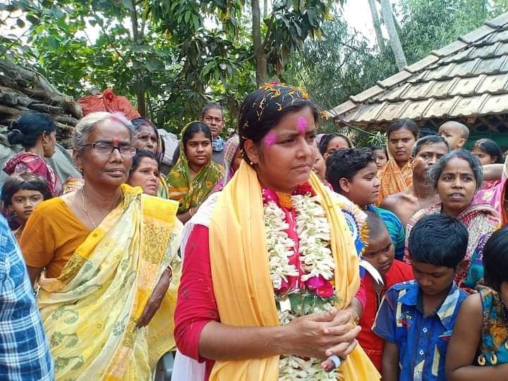 गांव-गांव में घूम-घूम कर प्रचार करती हैं माकपा की उम्मीदवार मीनाक्षी