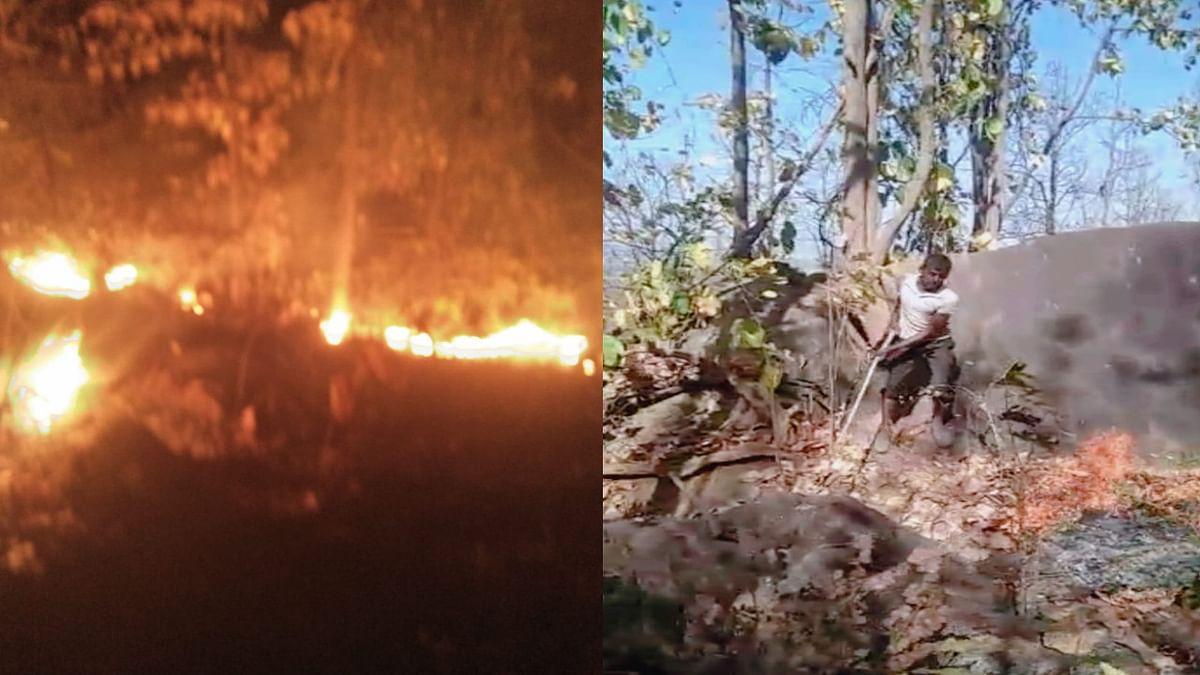 Jharkhand News : बड़कागांव के जंगलों में लगी भीषण आग, जानिए रेंजर ने क्या बताये कारण