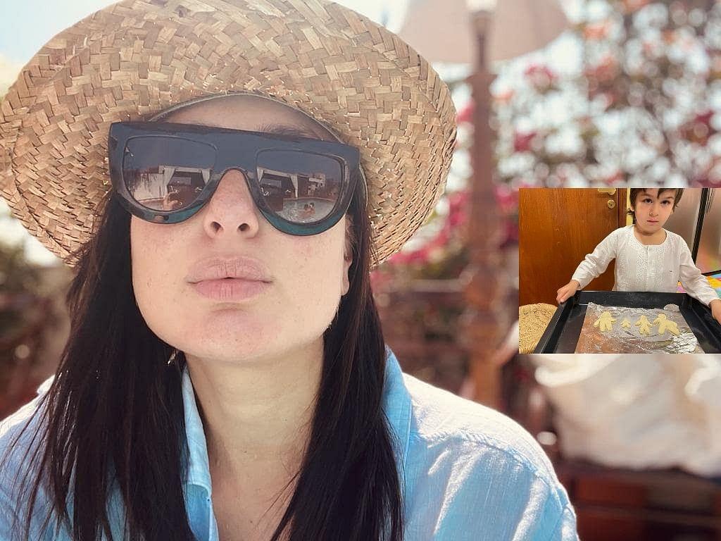 Taimur Ali Khan बनें शेफ, कुकीज के जरिए फैमिली को दिखाने की कोशिश करते दिखे Kareena Kapoor Khan के लाडले