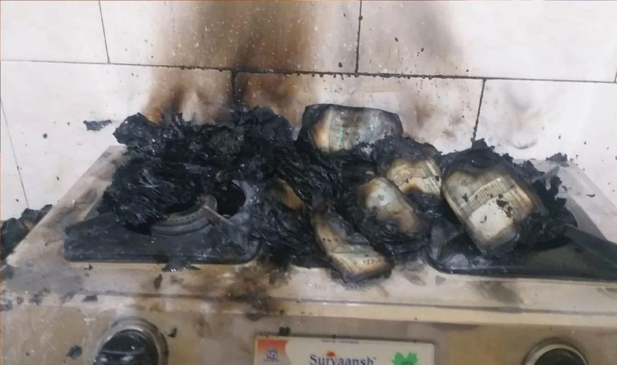 तहसीलदार ने गैस पर जला दिये 20 लाख रुपये, जानें क्या थी वजह ?