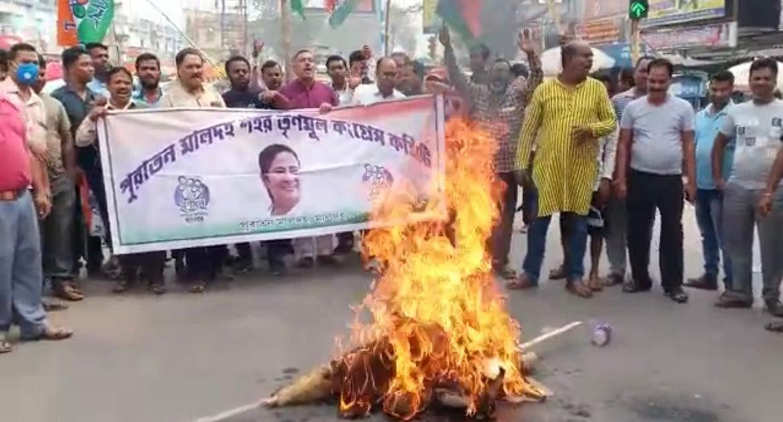 Bengal Chunav 2021: CM ममता बनर्जी पर 'हमला', मालदा में उबाल, हमलावरों की गिरफ्तारी की मांग पर प्रदर्शन