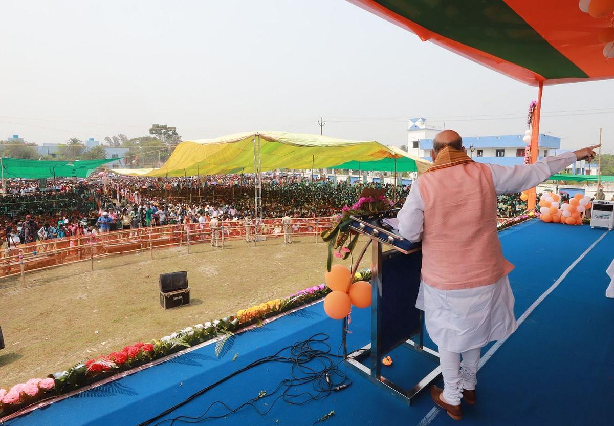 'गुंडों' को सबक सिखाएंगे अमित शाह, गोसाबा रैली में BJP के 'चाणक्य' का ट्रेलर, पिक्चर अभी बाकी है?