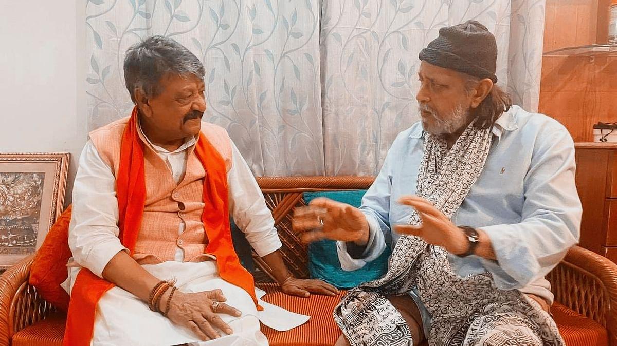 Bengal Chunav 2021 : एक्टर मिथुन चक्रवर्ती आज होंगे बीजेपी में शामिल? देर रात कैलाश विजयवर्गीय से मुलाकात के बाद सियासी गलियारों में चर्चा तेज